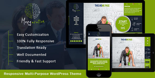 Mozgaration – Responsive Multi-Purpose WordPress Theme