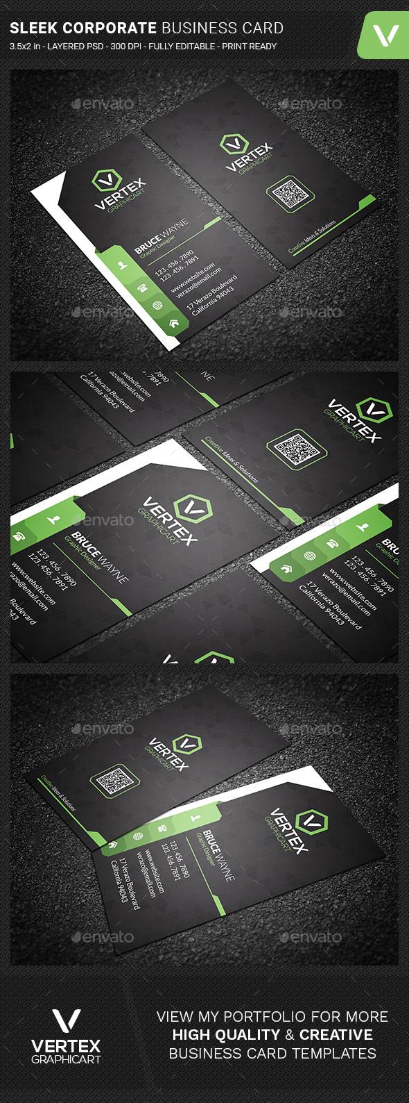 Sleek Corporate Business Card - Corporate Business Cards