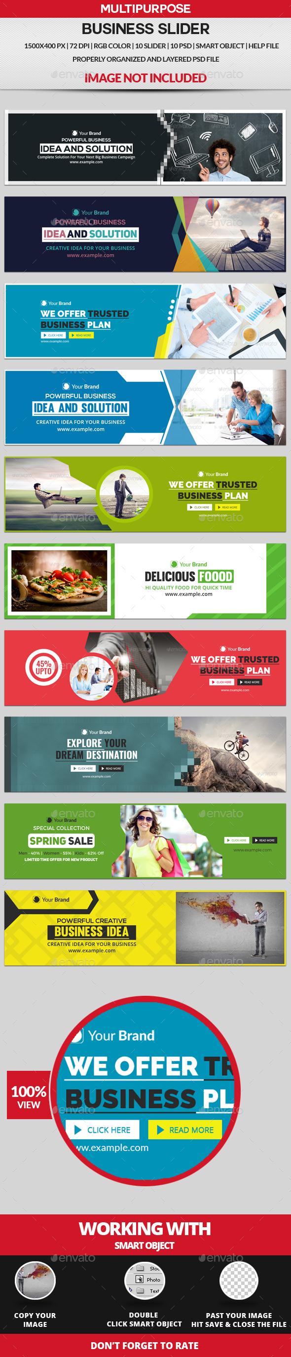 Sliders - 10 Design - Sliders & Features Web Elements