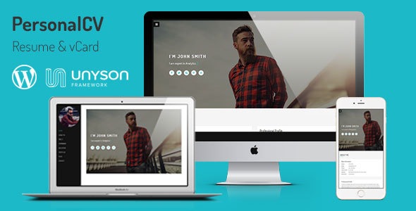 PersonalCV Resume & vCard WordPress Theme