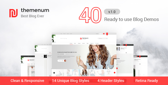 Themenum – Blog HTML Template with 40+ Demos