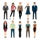 Casual Office People Icons Set - GraphicRiver Item for Sale
