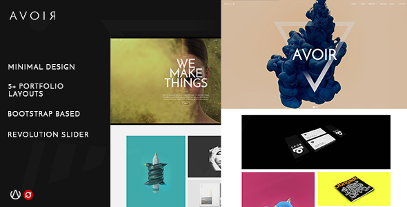 AVOIR | Creative Portfolio Bootstrap Template - Creative Site Templates