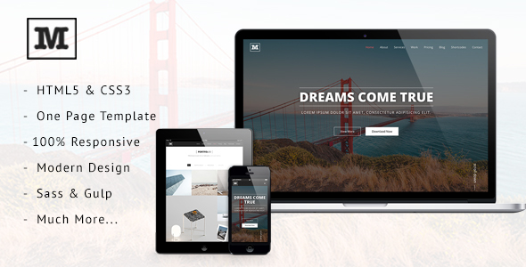 Mild – Multipurpose One Page HTML Template