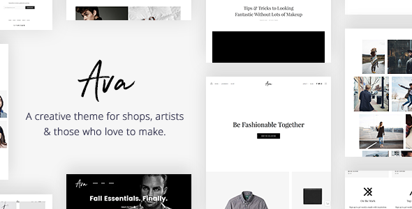 Ava – Creative Shop & Portfolio WordPress Theme for Professionals