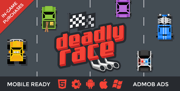 Deadly Race - Car Racing with In-Game Purchases - CodeCanyon Item for Sale