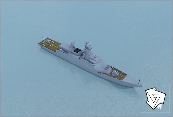 Rocket boat_HiPoly_render_setup - 3DOcean Item for Sale