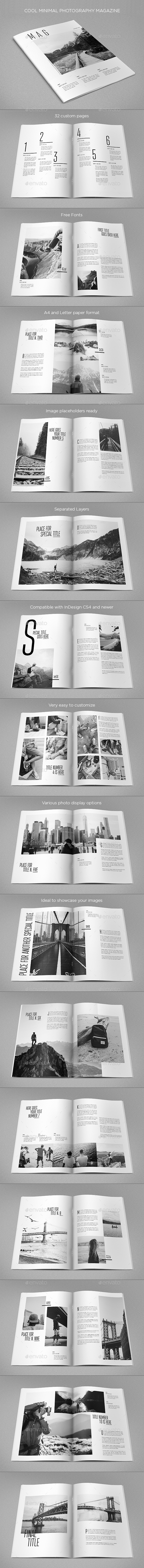 Cool Minimal Photography Magazine - Magazines Print Templates