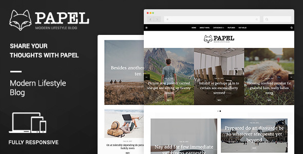 Papel | Modern Lifestyle Blog Template - Retail Site Templates