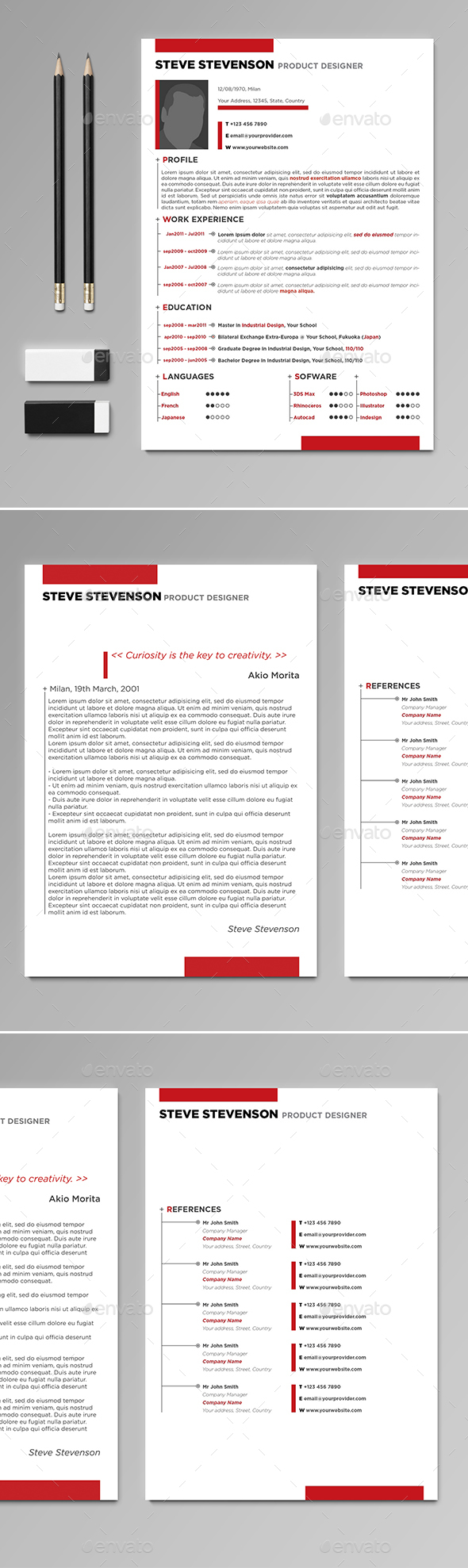 Professional CV / Resume - Resumes Stationery