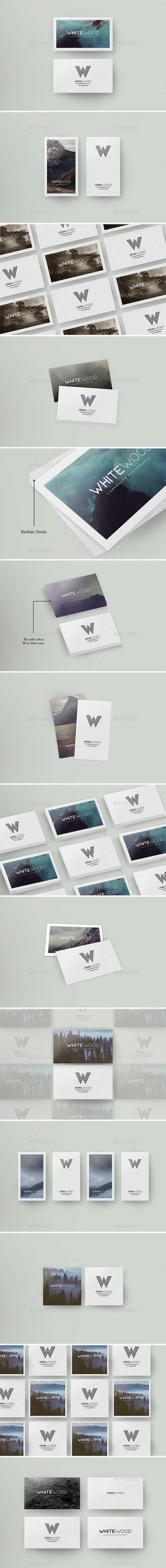 Minimal Card Mockups - Business Cards Print