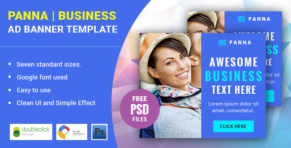 Panna | Business HTML 5 Animated Google Banner - CodeCanyon Item for Sale