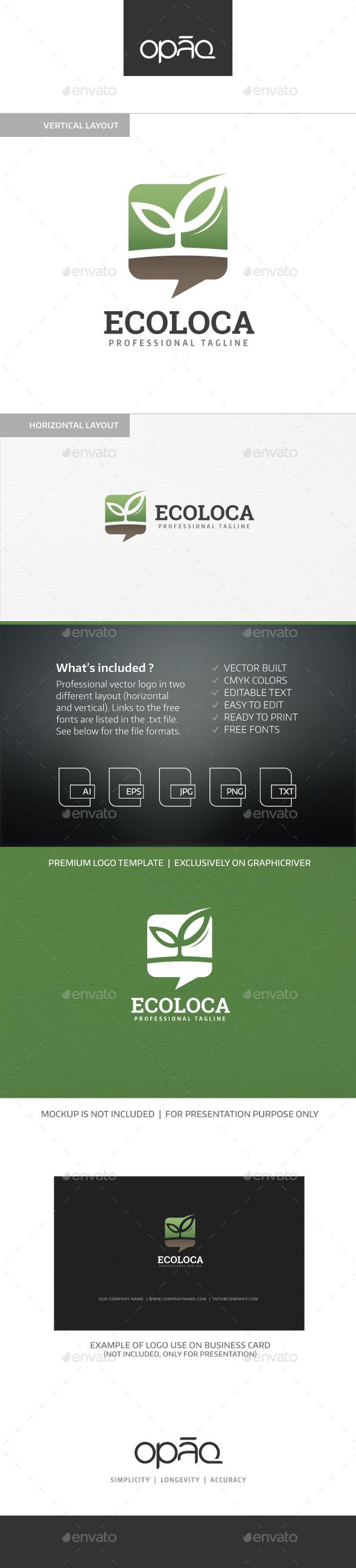 Think Green Logo - Nature Logo Templates