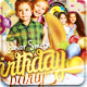 Junior Birthday Party Flyer Template - GraphicRiver Item for Sale