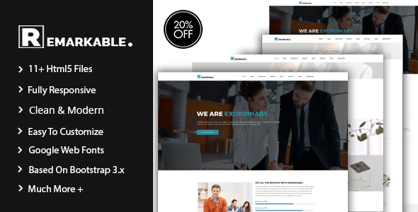 Remarkable Multipurpose Corporate Template - Business Corporate
