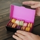 Macarons Presented Inside the Gift Box