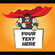 Superhero with Message Board - GraphicRiver Item for Sale
