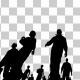 Silhouettes of People Walking - VideoHive Item for Sale