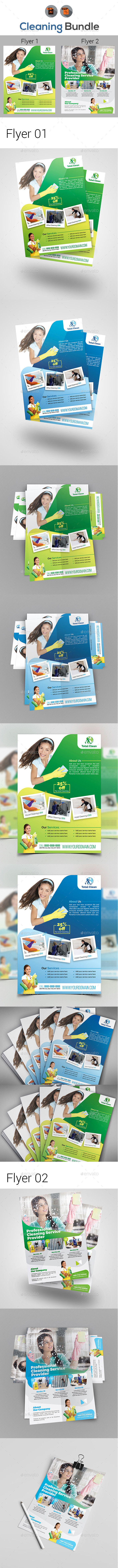 Cleaning Flyer Bundle - Commerce Flyers