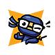 Nerd Ninja - Ninja Character Mascot Logo - GraphicRiver Item for Sale