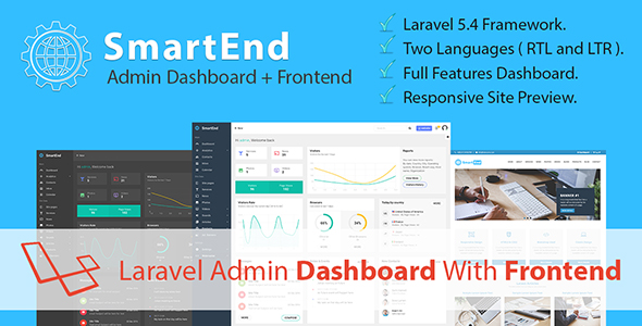 SmartEnd - Laravel Admin Dashboard with Frontend - CodeCanyon Item for Sale