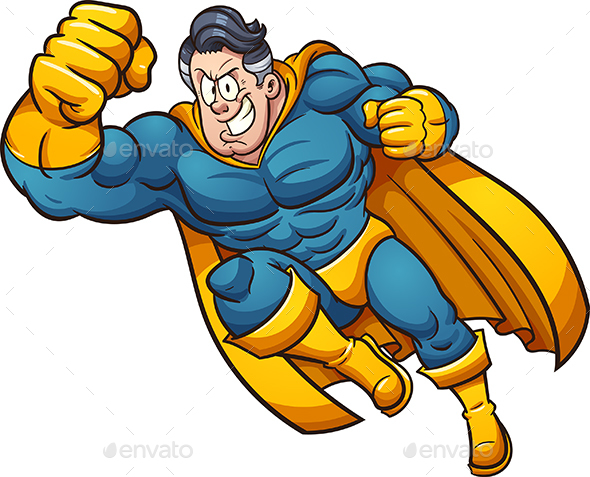 Cartoon Superhero - People Characters