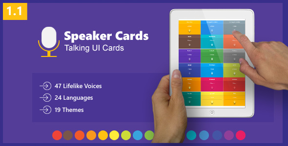 Speaker Cards - Talking UI Cards - jQuery Plugin - CodeCanyon Item for Sale