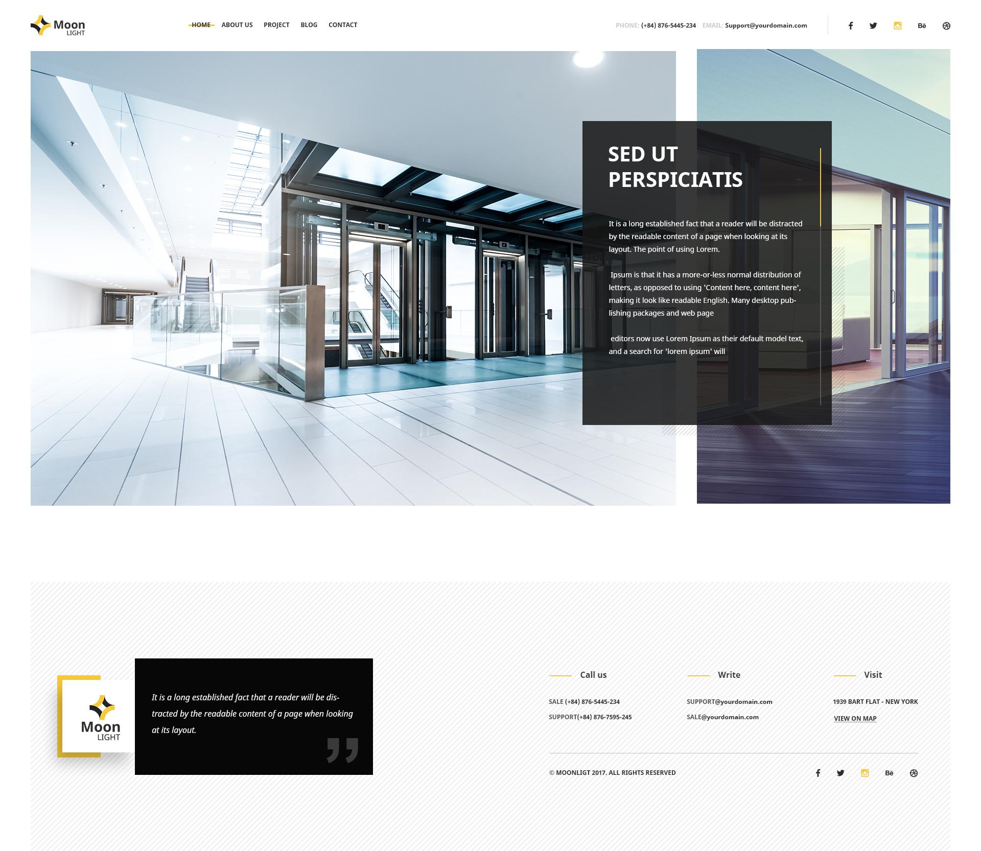 Moonlight Architecture Decor Interior Design Psd Template