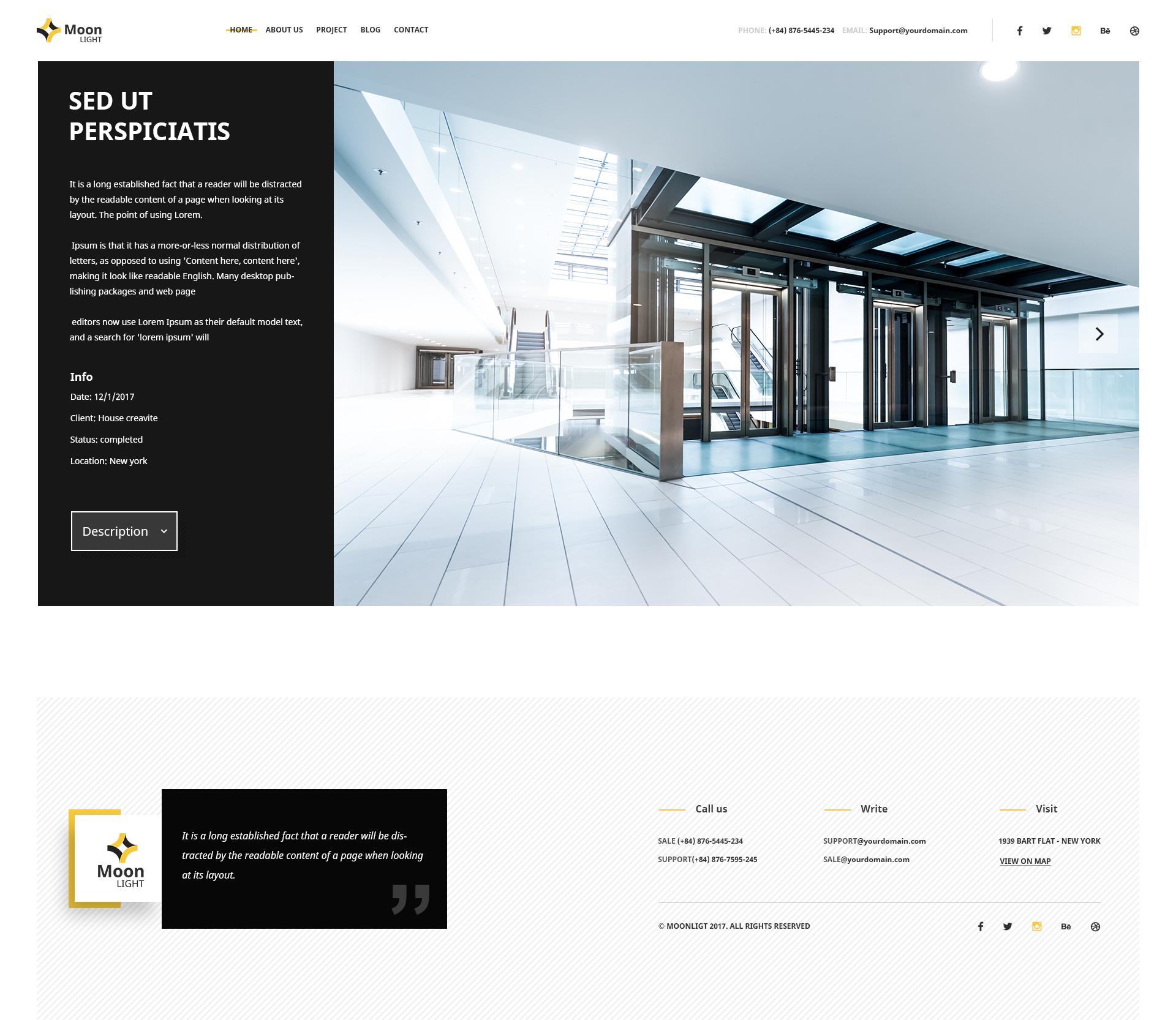 Moonlight - Architecture, Decor & Interior Design PSD Template