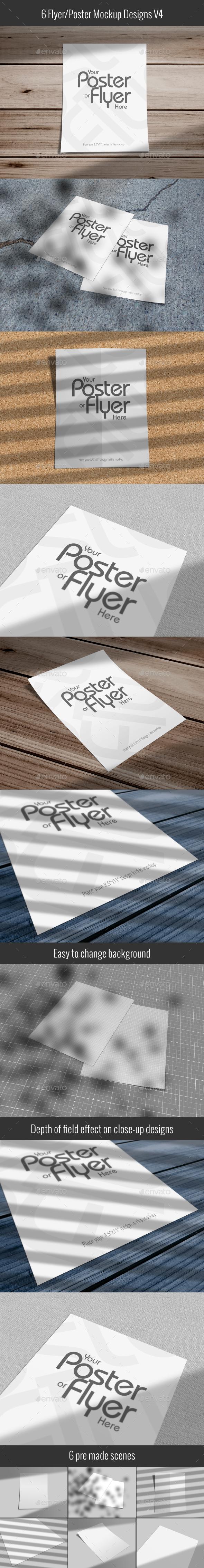Poster/Flyer Mockups V04 - Posters Print