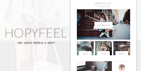 Hopyfeel – Personal Blog HTML Template