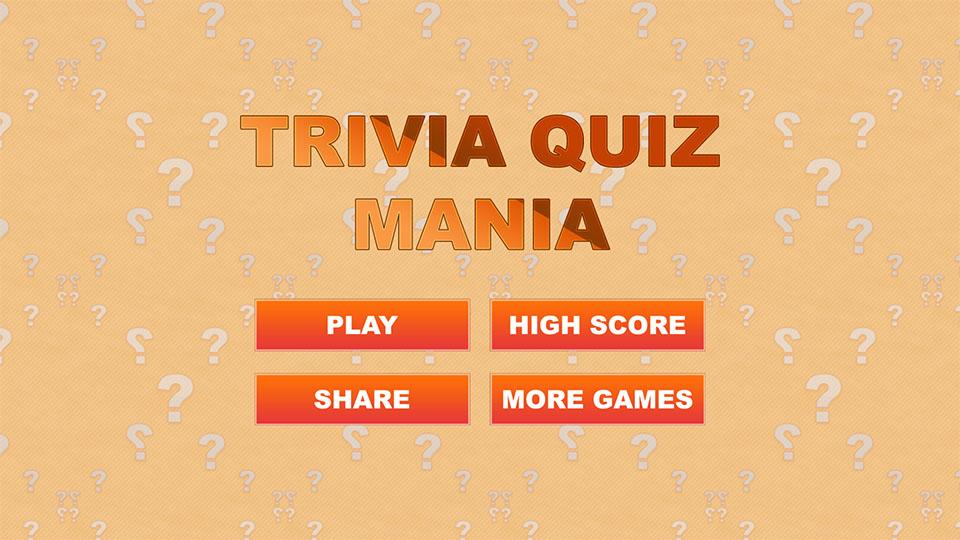 Trivia Quiz Mania - HTML5 Quiz Game