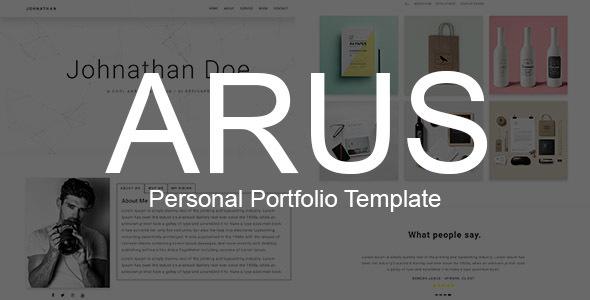 ARUS – Personal Portfolio Template
