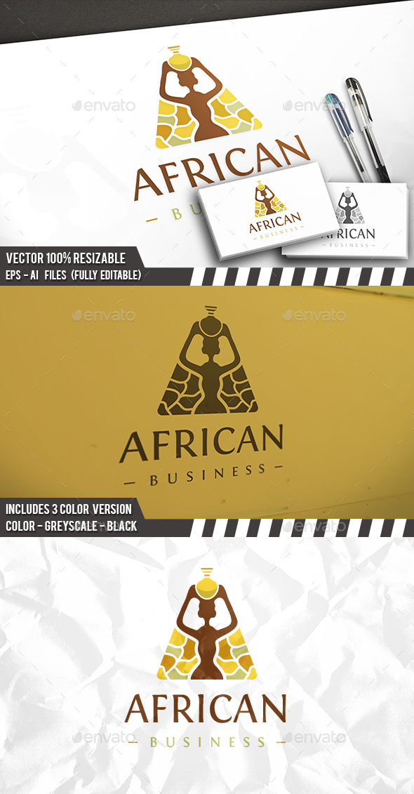 African Furniture Logo - Humans Logo Templates