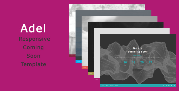 Adel - Responsive Coming Soon Template - Under Construction Specialty Pages