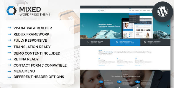 Mixed - Modern and Professional WordPress Theme - Business Corporate