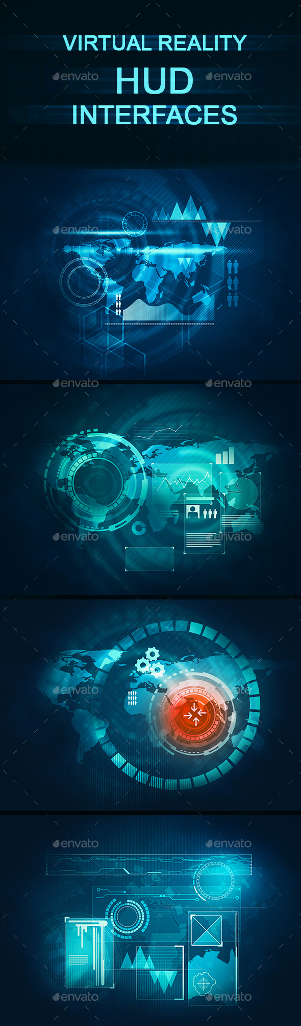 Virtual Reality Interfaces - Tech / Futuristic Backgrounds