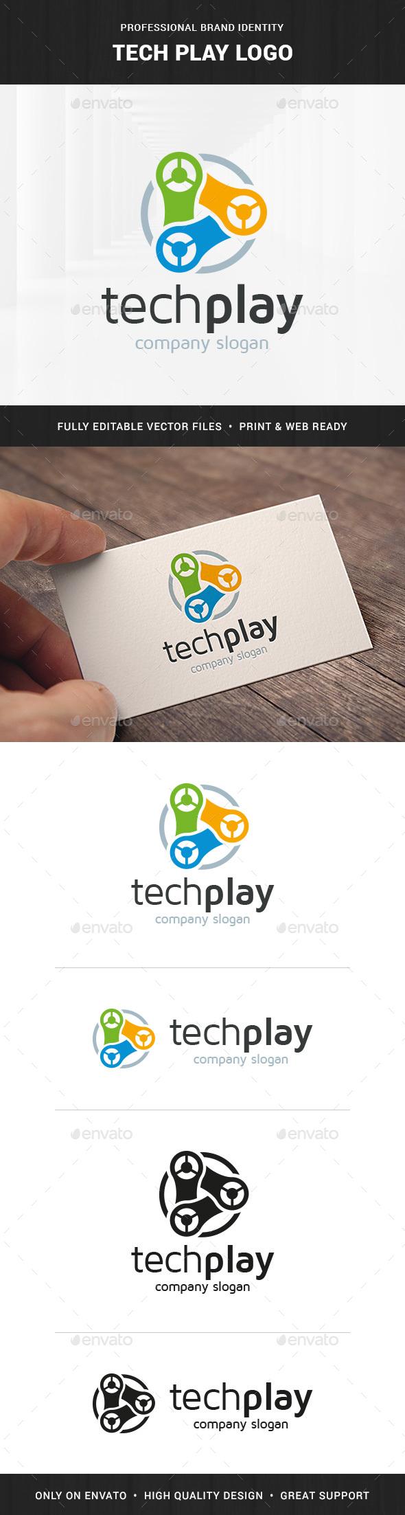 Tech Play Logo Template - Abstract Logo Templates
