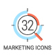 32 Modern Marketing Icons - GraphicRiver Item for Sale