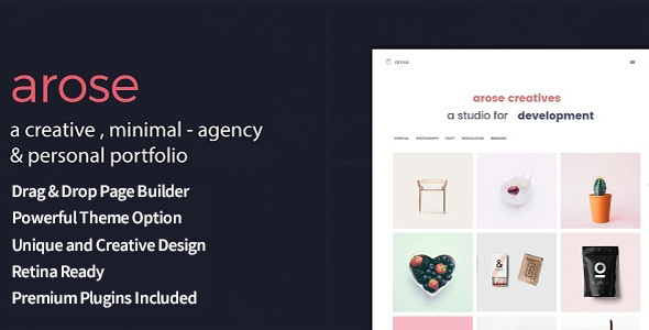 Arose – Creative Minimal Portfolio WordPress Theme