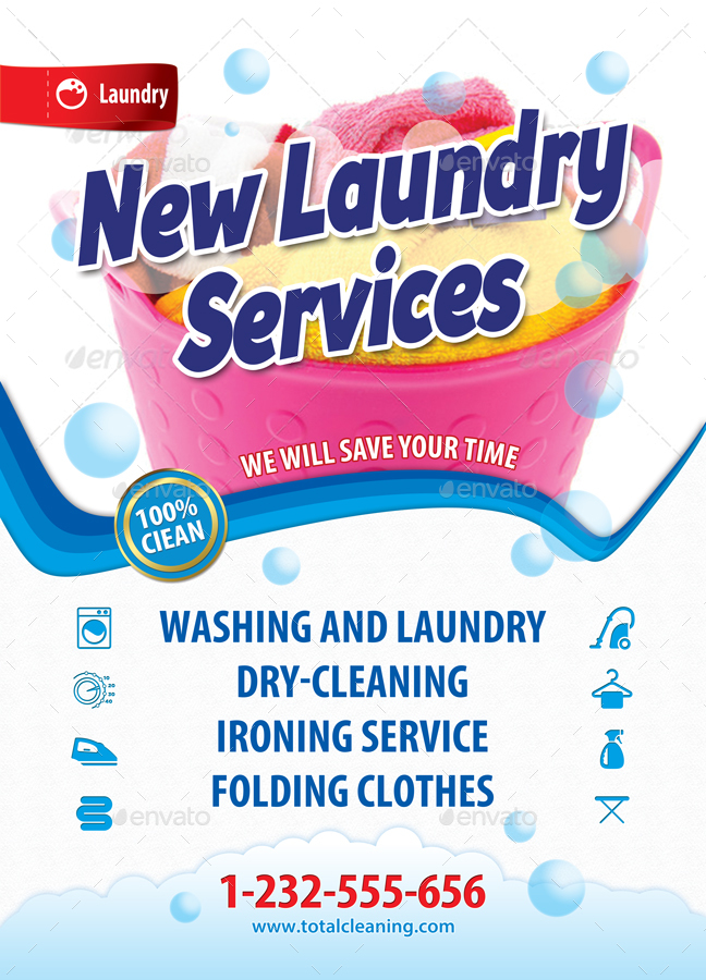 New Laundry Services Poster Template 47 By 21min