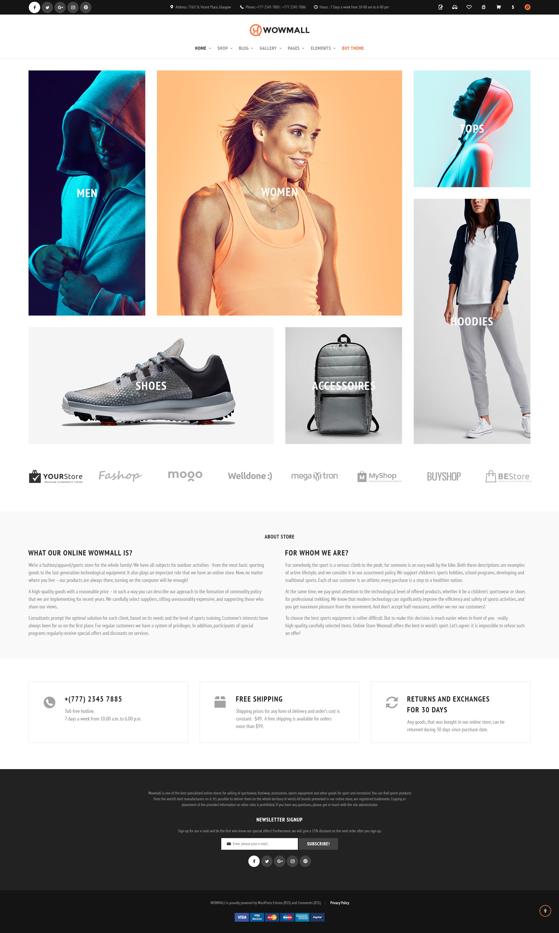 WowMall Online Store PSD template by themetony | ThemeForest