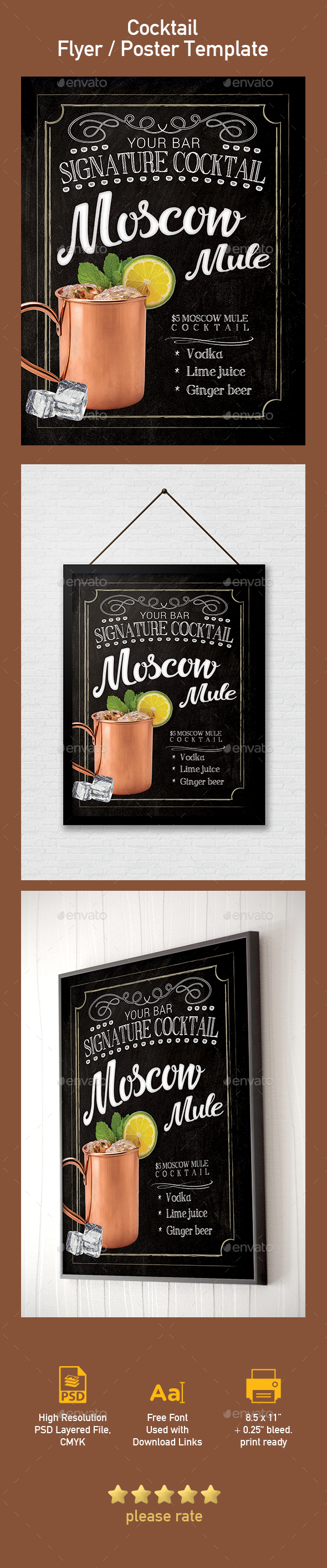 Moscow Mule Cocktail Flyer Template - Events Flyers
