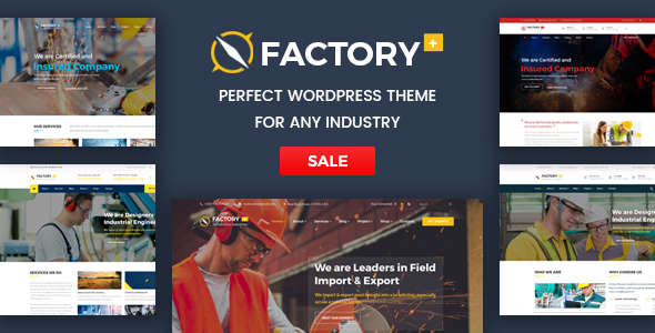 Factory Plus - Industry / Factory / Engineering and Construction Business WordPress Theme - Business Corporate