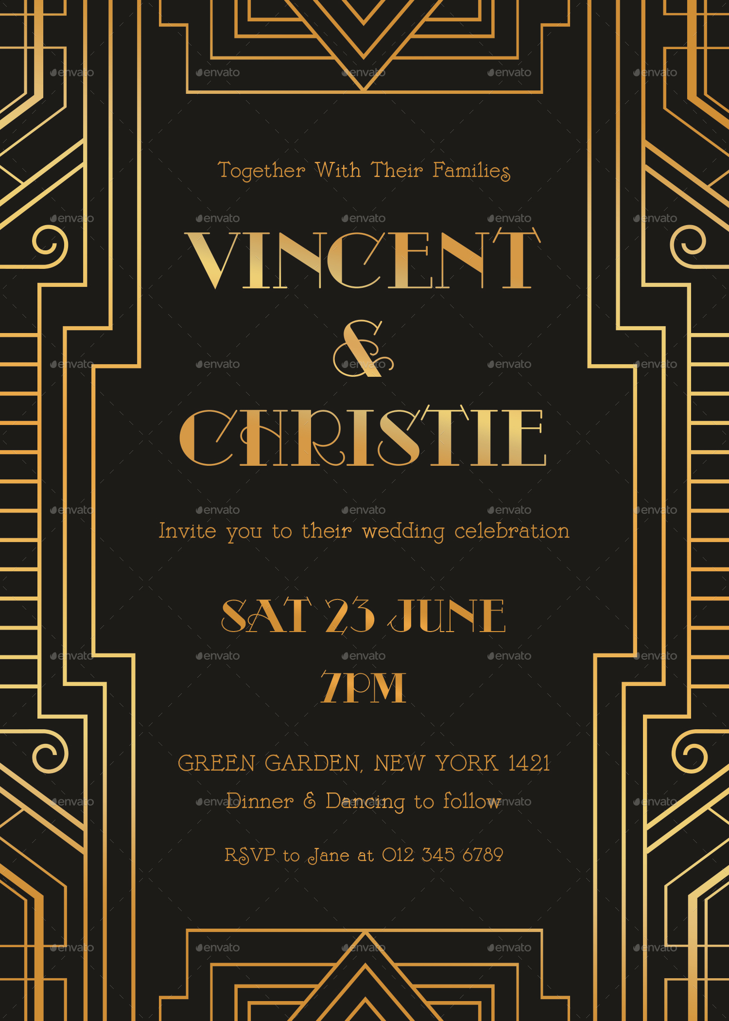 Art deco invitation - Deco vol ...
