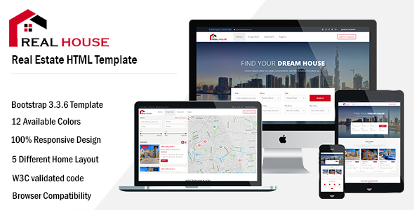 Real House – Real Estate HTML Template