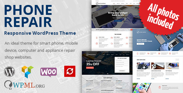 Phone Repair - Mobile, Cell Phone and Computer Repair WordPress Theme - Technology WordPress