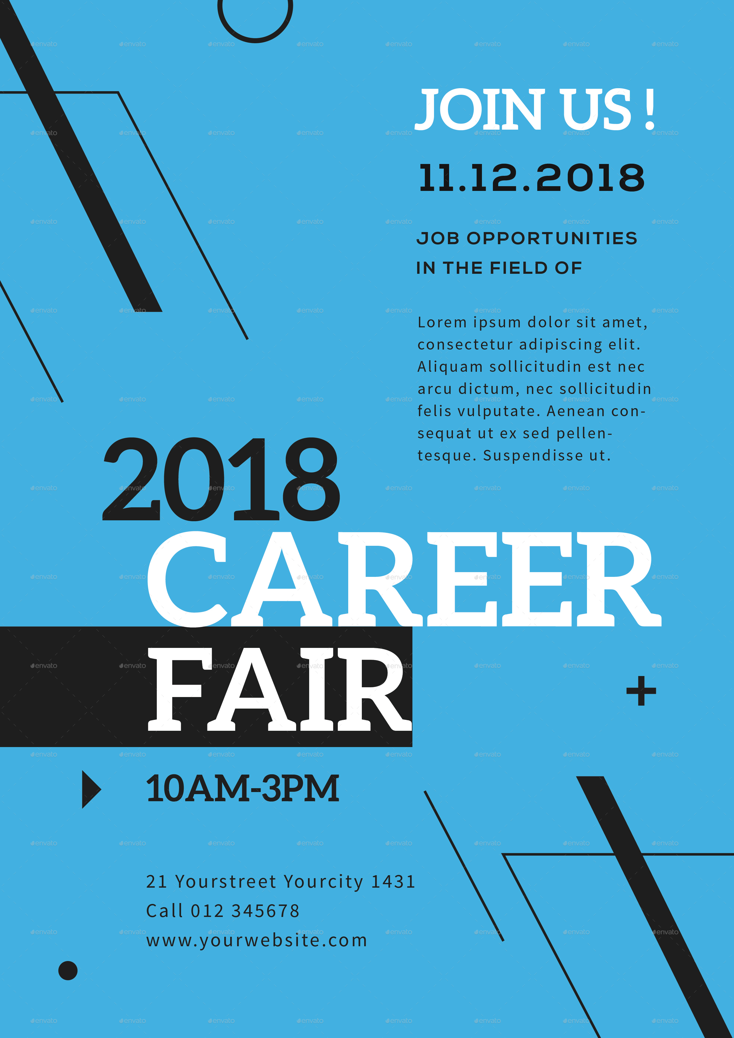 career fair flyer by infinite78910 graphicriver