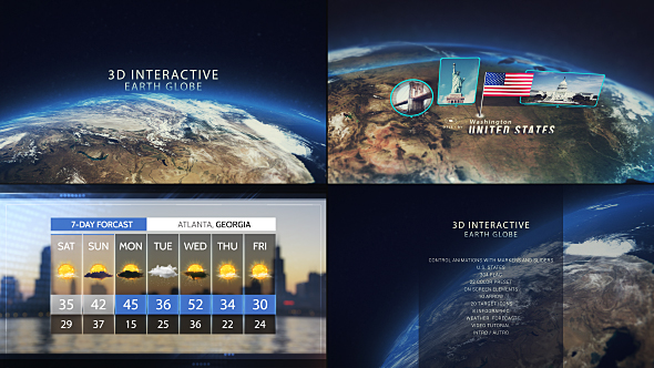 3d interactive earth globe by brodzeli videohive play preview video publicscrutiny Images