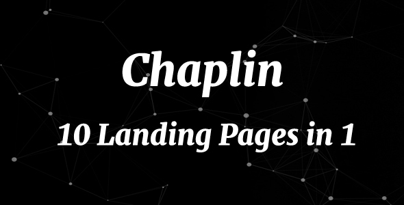 Chaplin – 10 Landing Pages in 1